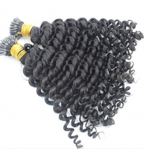 kinky curly i-tip hair extensions