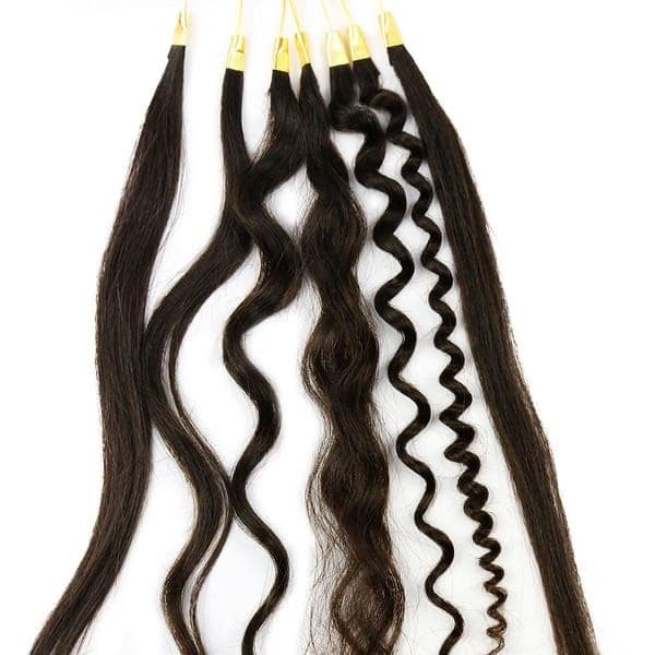 Curly I-Tip Hair Extensions